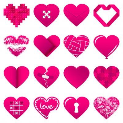Adesivo 16 Resumo Pink Hearts