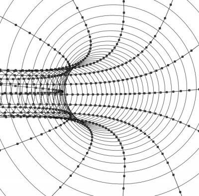 Adesivo 3d abstrato túnel ou tubo