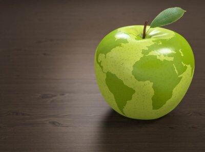 Adesivo 3d maçã Mundial da Saúde