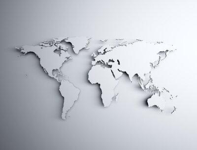 Adesivo 3D mapa do mundo