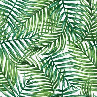Adesivo A aguarela tropical deixa o teste padrão sem emenda. Ilustração do vetor.