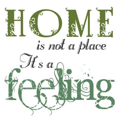 Adesivo A casa é um orçamento Sentimento