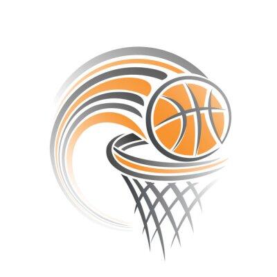 Adesivo A imagem de uma bola de basquete