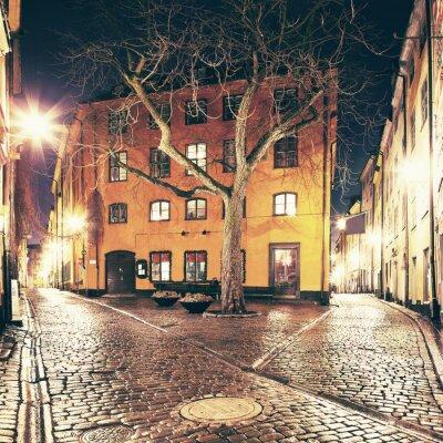 Adesivo A pequena praça em algum lugar em Gamla Stan, Estocolmo.