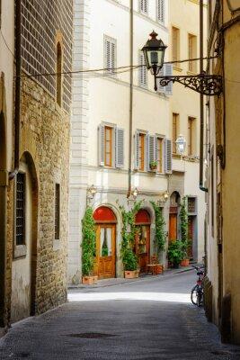 Adesivo A rua Via Lambertesca no centro histórico de Florença, Itália