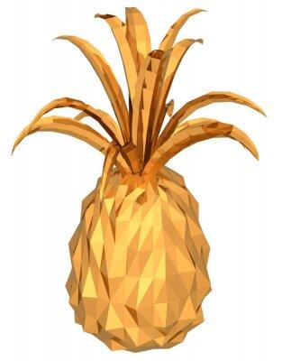 Adesivo abacaxi de ouro