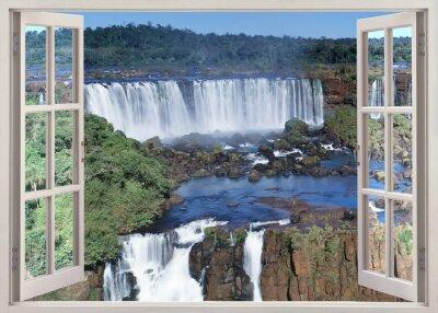Adesivo Abra windoq panoramic vuew para Cataratas do Iguaçu, Brasil