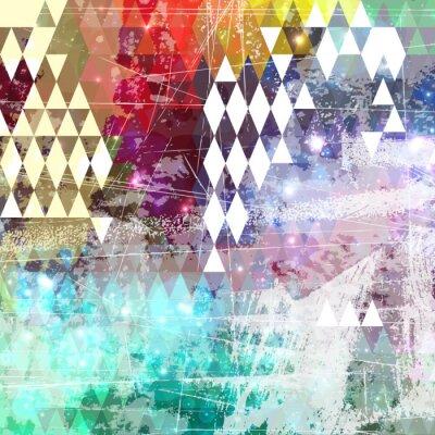 Adesivo Abstract estilo grunge com efeito afligido