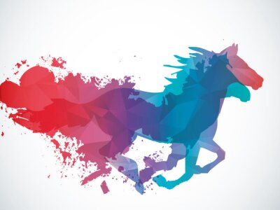 Adesivo Abstract horse