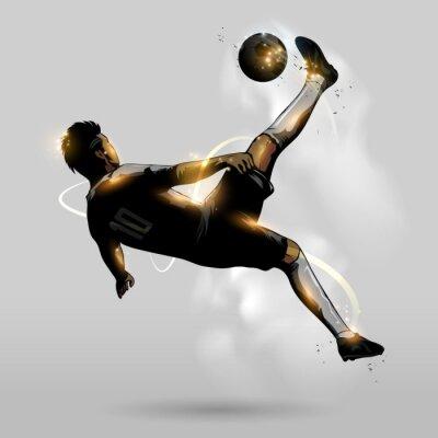 Adesivo abstract soccer overhead kick