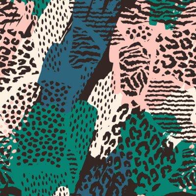 Adesivo Abstrata sem costura padrão com impressão animal.