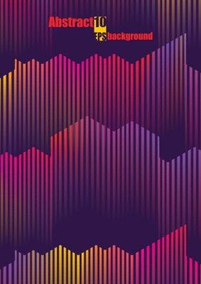 Adesivo Abstrato colorido musical iIllustration. Ilustração em vetor eps10