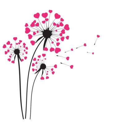 Adesivo Abstratos, dandelion, fundo, vetorial