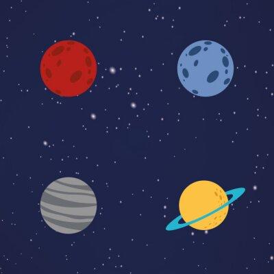 Adesivo Abstratos, desenho animado, planetas