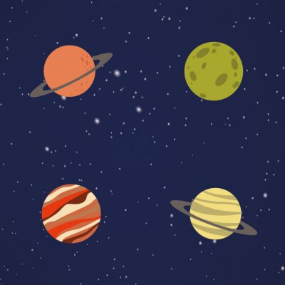 Adesivo Abstratos, desenho, planetas