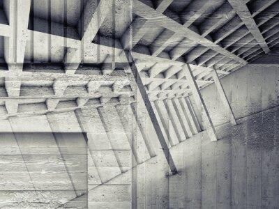Adesivo Abstratos, interior, vazio, sala, concreto