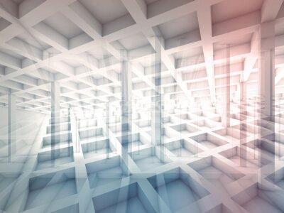 Adesivo Abstratos, intersected, célula, estruturas, 3D, Ilustração