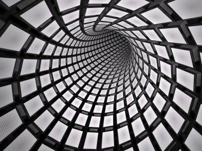 Adesivo Abstratos, túnel, 3D