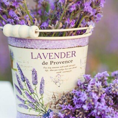 Adesivo acessórios em flores de lavanda