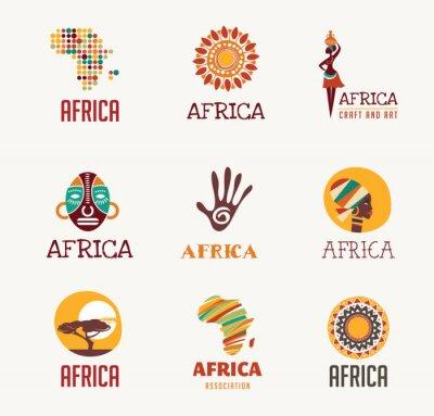 Adesivo África, ícones Safari e elemento set