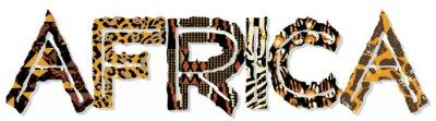 Adesivo África patchwork com tecidos e texturas da pele
