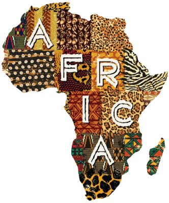 Adesivo Africa patchwork vector map