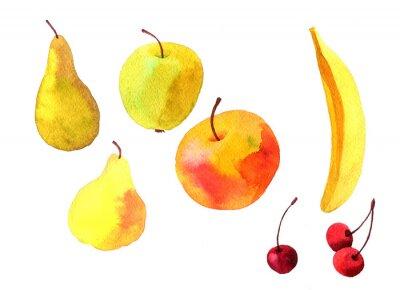 Adesivo Aguarela, desenho, frutas