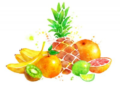 Adesivo Ainda vida com frutas.