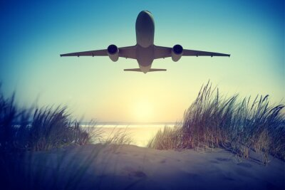 Adesivo Airplane Travel Destination Outdoors Take off Concept