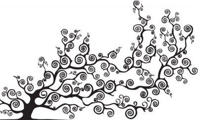 Adesivo albero con rami CURVI