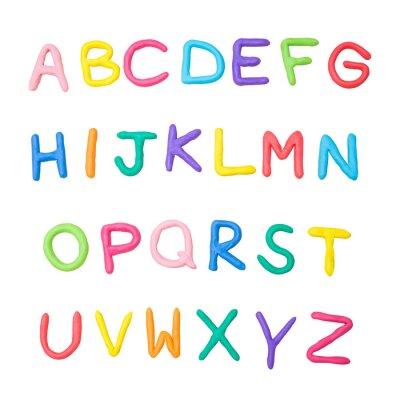 Adesivo Alfabeto colorido a a z