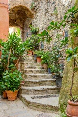 Adesivo Alley em italiano cidade velha Liguria Itália
