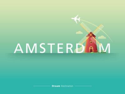 Adesivo Amsterdam tipografia