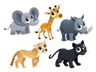 Adesivo Animais africanos engraçados
