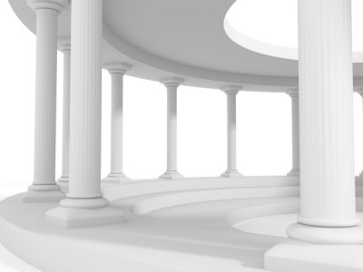 Adesivo Antiga, estilo, coluna, arquitetura, desenho, fundo