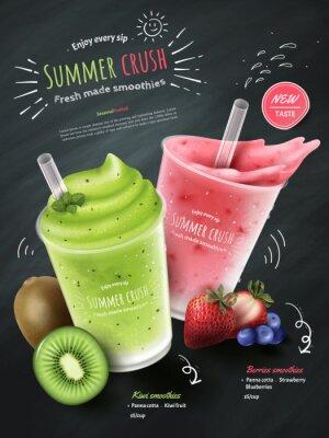 Adesivo Anúncios de smoothies de frutas