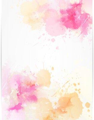 Adesivo Aquarela abstrato com salpicos de tinta.