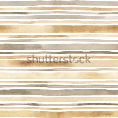 Adesivo Aquarela listrada sem costura padrão. Fundo de mão desenhada com listras em aquarela