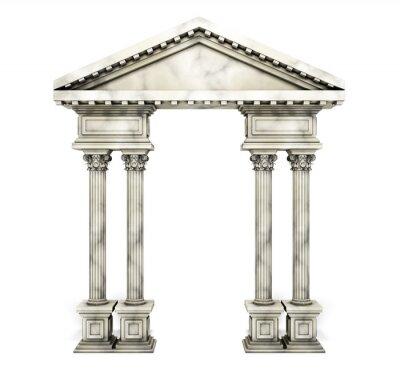 Adesivo Arco clássico da coluna do Corinthian.