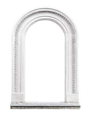 Adesivo arco de pedra isolado no fundo branco