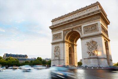 Adesivo Arco do Triunfo em Paris tarde