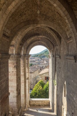 Adesivo Arquitectura da cidade de Gubbio perto de Perugia (Itália)