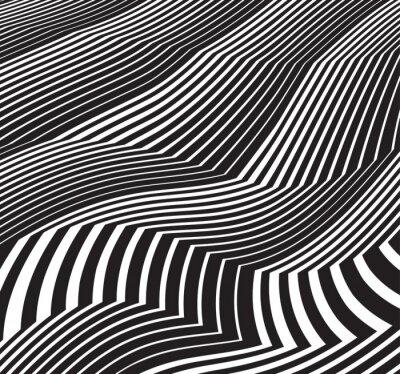 Adesivo Arte abstrata fundo greyscale pretas e whit