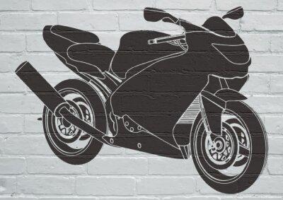Adesivo Arte de rua, moto