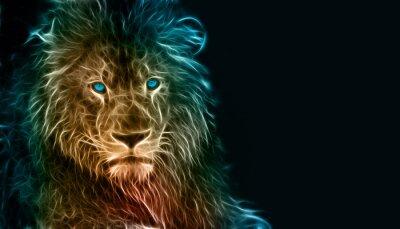 Adesivo Arte digital da fantasia de um leão