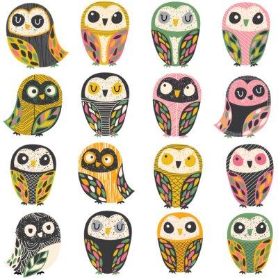 Adesivo artistic owl illustration