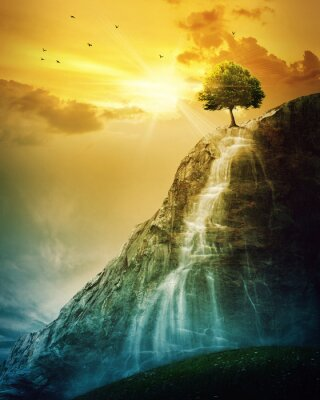 Adesivo Árvore Cachoeira