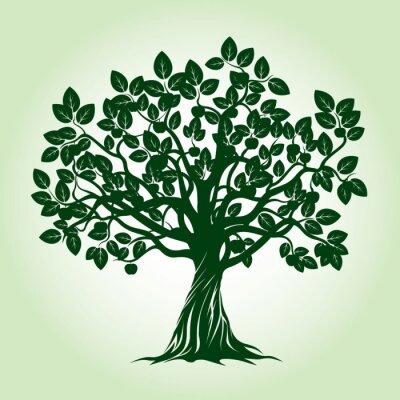 Adesivo Árvore De Apple Verde. Ilustração Do Vetor.
