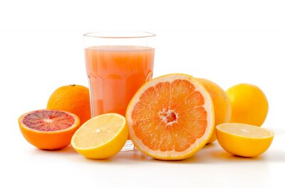 Adesivo As frutas cítricas e suco