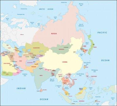 Adesivo Ásia mapa